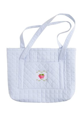 Little English Little English Quilted Luggage Tote Strawberry