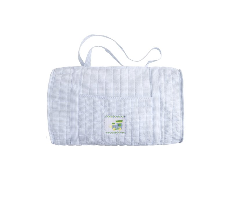 Little English Quilted Luggage Duffle Train