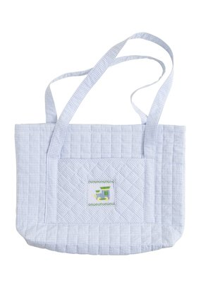 Little English Little English Quilted Luggage Tote Train