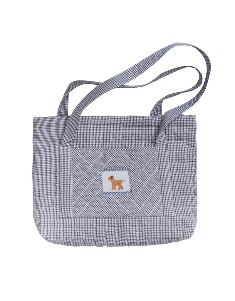 Little English Little English Quilted Luggage Tote Dog