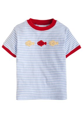Little English Little English Fish Mini Applique T-Shirt