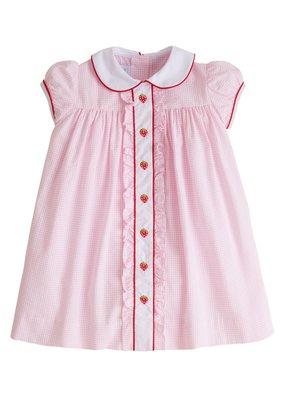 Little English Little English Strawberry Ruffled Sally Dress