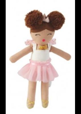 Mudpie Pink Skirt Ballerina Rattle