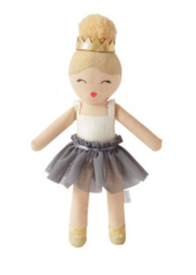 Mudpie Gray Skirt Ballerina Rattle