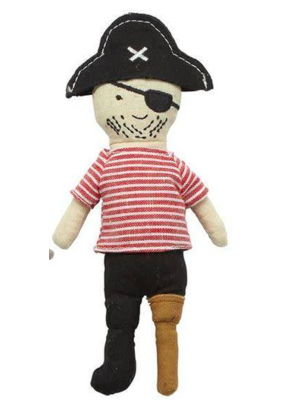 Mudpie Peg Leg Pirate Rattle