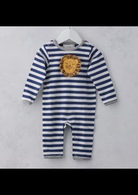 Albetta Albetta Striped Crochet Lion Babygrow