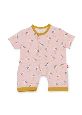Magnetic Baby Pink Plovers Modal Magnetic Romper
