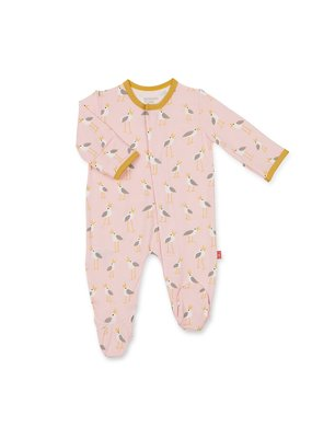 Magnetic Baby Pink Plovers Modal Magnetic Footie