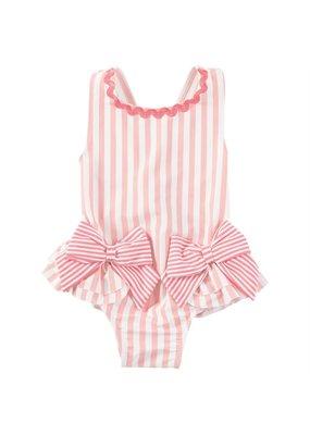 Mudpie Pink Bow Swim Suit