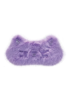 Cat Furry Embroidered Eye Mask