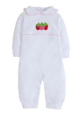 Little English Little English Strawberry Crochet Playsuit