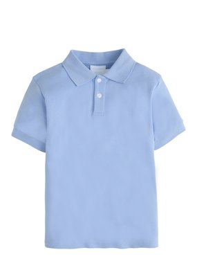 Little English Little English Solid Light Blue Polo