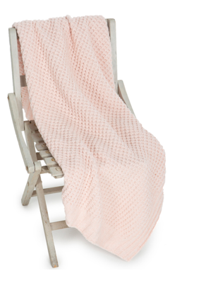 Barefoot Dreams Waffle Baby Blanket 30x32 Pink