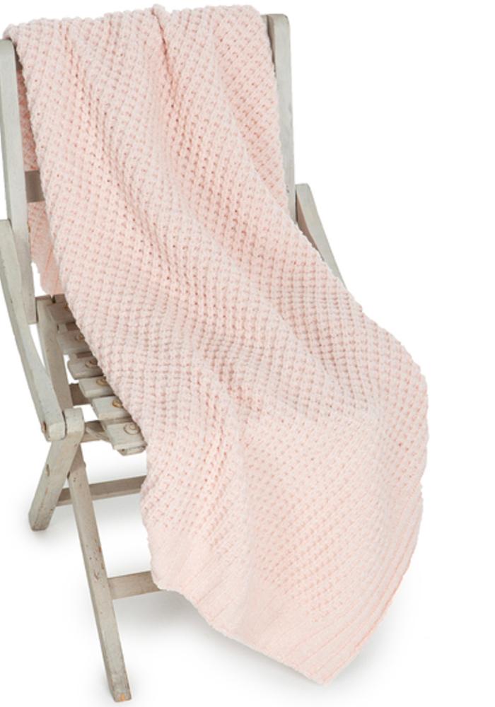 Waffle Baby Blanket 30x32 Pink