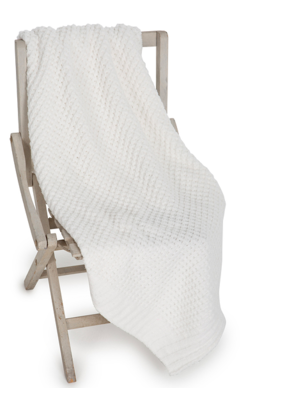 Barefoot Dreams Waffle Baby Blanket 30x32 Pearl