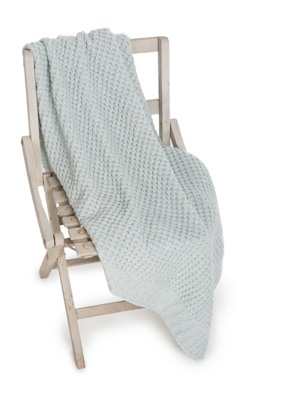 Barefoot Dreams Waffle Baby Blanket 30x32 Sea Glass