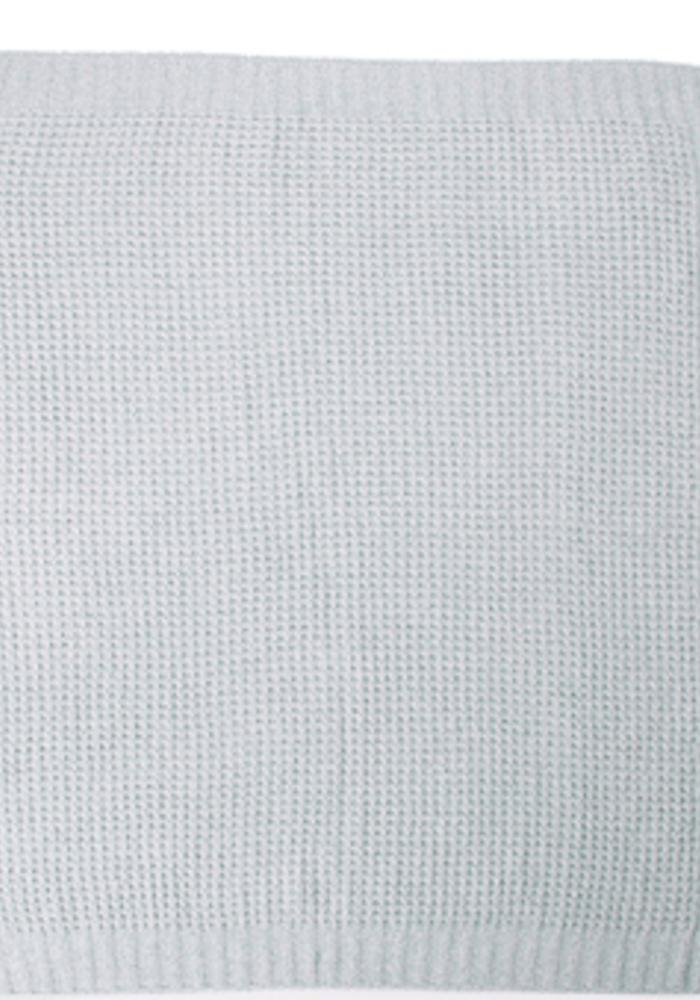 Waffle Baby Blanket 30x32 Sea Glass