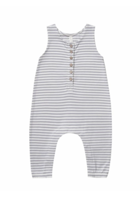 Quincy Mae Grey Striped Sleeveless Jumpsuit