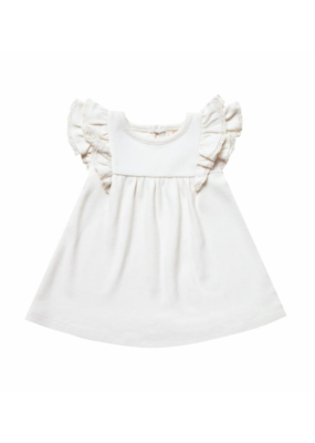 Quincy Mae Ivory Flutter Dress