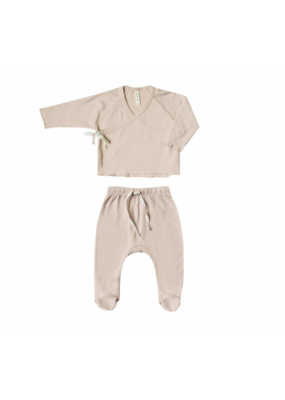 Quincy Mae Rose Kimono Top & Footed Pant Set