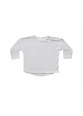 Quincy Mae Grey Striped Longsleeve Baby Tee