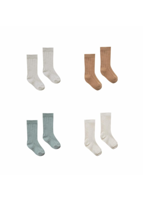 Quincy Mae Baby Socks 4 Pack (Ash, Copper, Sea, Pebble)