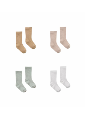 Quincy Mae Baby Socks 4 Pack (Ivory, Sage, Rose, Honey)