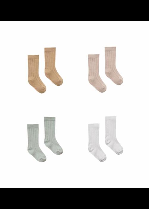Quincy Mae Baby Socks 4 Pack (Ivory, Sage, Rose, Honey)