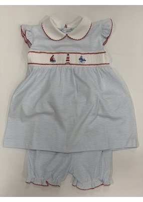 Baby Threads/Marco Lizzie Smocked Sailboat Dress
