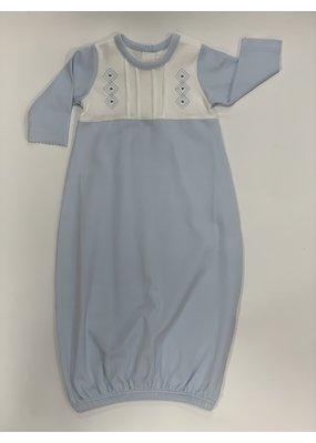 Baby Threads/Marco Lizzie Newborn Blue Argyle Gown