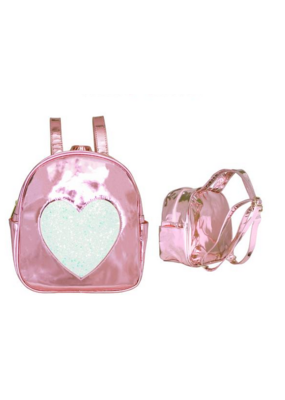 Pink Disco Heart Backpack