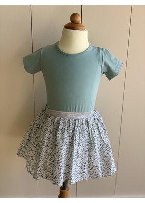 Creamie Green Surf Tshirt and Cloud Rice Skirt
