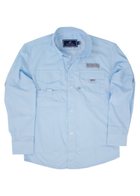 Properly Tied Aqua Fishing Shirt