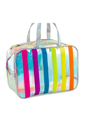 Iridescent Large Striped Bag