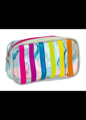 Iridescent Small Striped Bag
