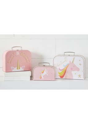 Mudpie Unicorn Fantastical Suitcase Set of 3