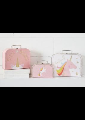 Mudpie Unicorn Fantastical Suitcase Set of 3