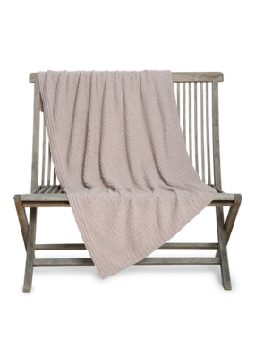 Barefoot Dreams BFD Waffle Throw Blanket Faded Rose