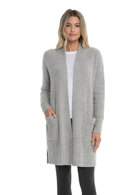 Barefoot Dreams BFD CCL Long Weekend Cardi Pewter Silver