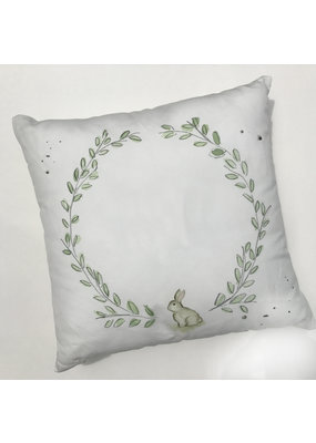 "Over the Moon 17"" Laurel Wreath with Bunny Pillow"
