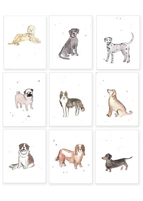 Over the Moon Set of 6 Puppy Dog Prints