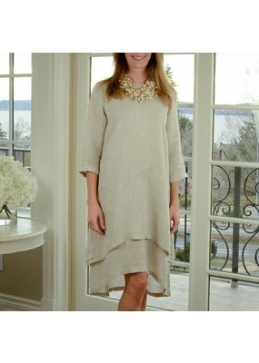 Crown Linen Linen Paige Dress
