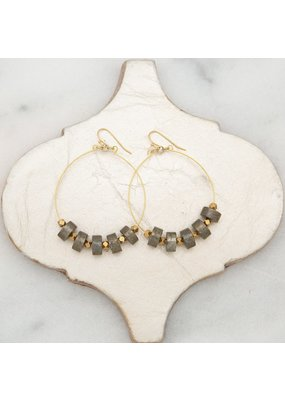 Stone + Stick Serpentine Earrings