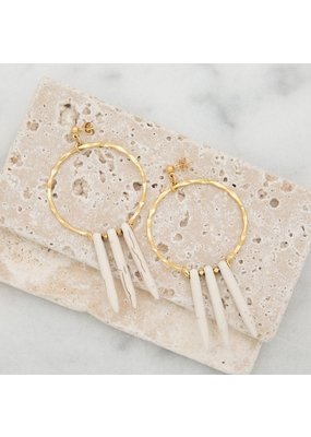 Stone + Stick Fringe Earrings