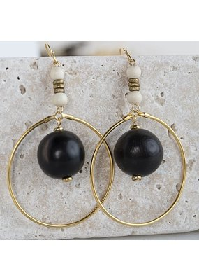 Stone + Stick Ember Statement Earrings