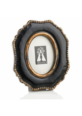Black Frame with Gold Accents