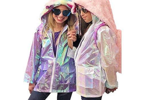 Iridescent Rain Coat