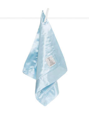 Little Giraffe Blue Chenille Satin Blanky