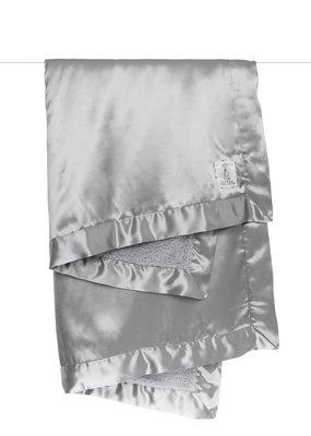 Little Giraffe Silver Chenille Satin Blanket