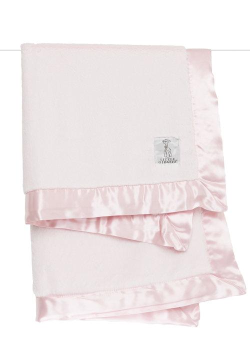Little Giraffe Pink Luxe Blanket